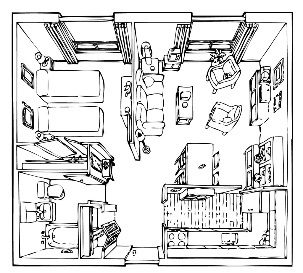 Tyndall Room Plan RH - Apartment
